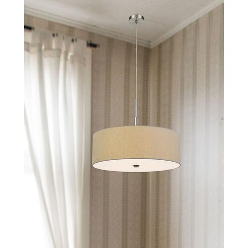 Cal Lighting & Accessories - 60W x 4 Lonoke pendant fixture with hardback drum shade