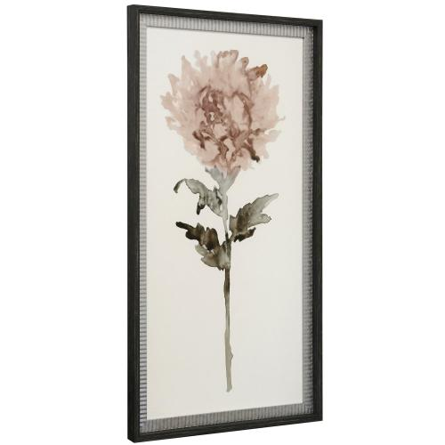 WATERCOLOR WISHES II  21in w. X 39in ht.  Double Framed Floral Watercolor Print  Made in USA