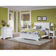 Century Queen Bed, Nightstand and Chest