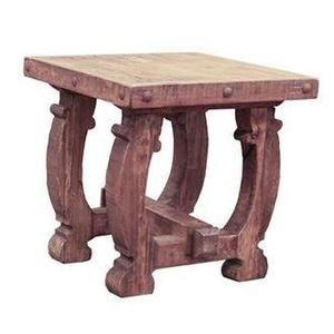 Old Wood End Table W/Curved Legs