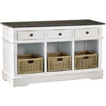 Product Image - Cottage Sideboard w/Baskets & Drawers - Two Tone White and Brown
