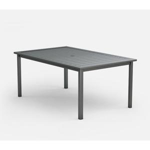 "44"" x 70"" Rectangular Cafe Table (with Hole) Ht: 30"" Post Aluminum Base (Model # Includes Both Top & Base)"