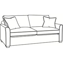 Charleston Sofa with Wood Feet