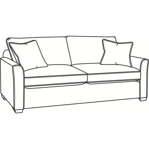 Braxton Culler Inc - Charleston Queen Sleeper Sofa with Wood Feet
