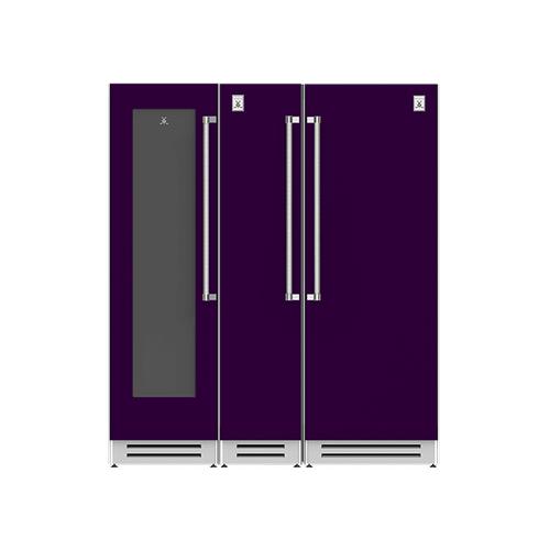 "Hestan - 72"" Wine Cellar (L), Column Freezer and Refrigerator ® Ensemble Refrigeration Suite - Lush"