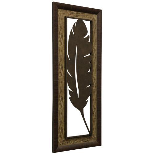 Style Craft - Metal Laser Cut Palm Leaf I  2-Step Framed Panel