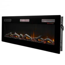 """See Details - Sierra 72"""" Linear Electric Fireplace"""