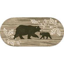 "Cozy Cabin Foliage Bear 20""x44"" Oval"