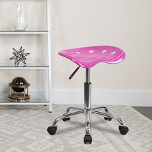 View Product - Vibrant Candy Heart Tractor Seat and Chrome Stool