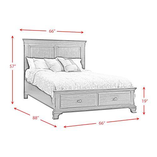 Elements - Canton Cherry Queen Storage Bed