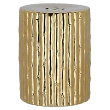 See Details - Bamboo Garden Stool - Gold