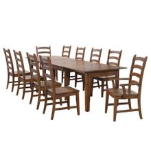 See Details - Rectangular Extendable Table Dining Set - Amish (11 Pieces)