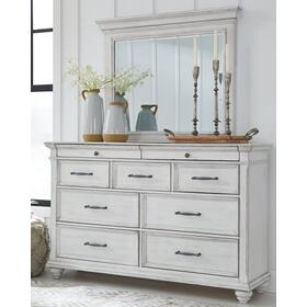 Kanwyn Dresser and Mirror Whitewash