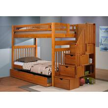 Sacramento Bunk Bed With Staircase With Trundle