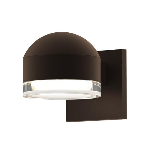 Sonneman - A Way of Light - REALS® Downlight LED Sconce [Color/Finish=Textured Bronze, Lens Type=Dome Cap and Clear Cylinder Lens]