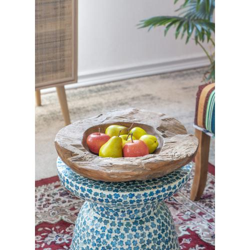 Aisling Decorative Teak Bowl