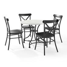"MADELEINE 32"" 5PC DINING SET W/CAMILLE CHAIRS"