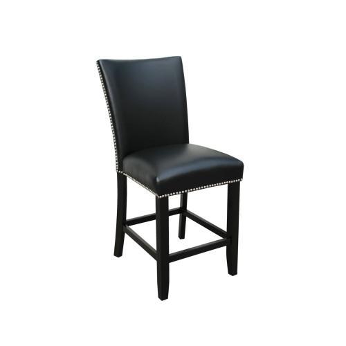 Camila Black PU Counter chair W/ Nailhead