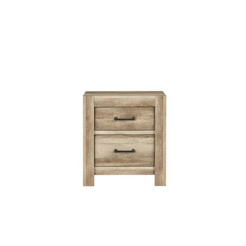 Salerno Light Nightstand with USB Charging Station