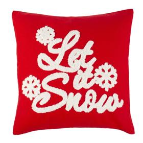 Let It Snow Pillow - Red / White