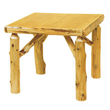 Game Table - 32-inch - Natural Cedar - Liquid Glass
