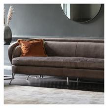 GA Tesoro Sofa Dark Taupe Velvet