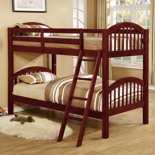 4472C  CHERRY TWIN/TWIN BUNK BED