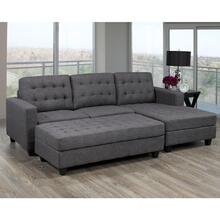 Sectional Sofa Complete, Grey