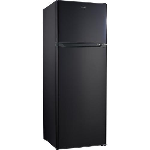 Galanz 12 Cu Ft Top Mount Refrigerator in Black