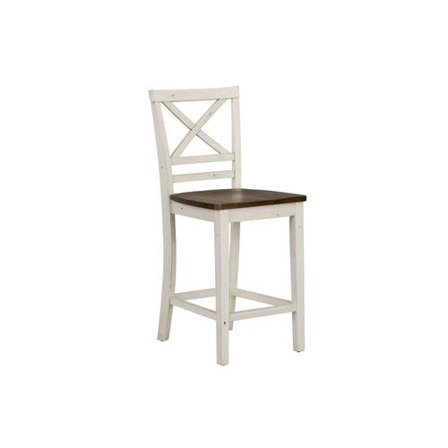 Standard Furniture - Amelia Two-Tone 2-Pack Counter Height Barstools