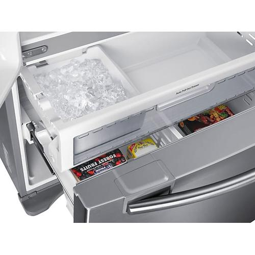 Samsung - Refurbished 18 cu. ft. Counter Depth French Door Refrigerator (This is a Stock Photo, actual unit (s) appearance may contain cosmetic blemishes. Please call store if you would like actual pictures). This unit carries our 6 month warranty, MANUFACTURER WARRANTY and REBATE NOT VALID with this item. ISI 45576