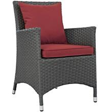 Sojourn Dining Outdoor Patio Sunbrella® Armchair in Canvas Red