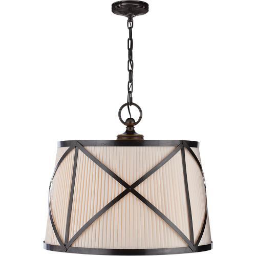 Visual Comfort CHC1483BZ-L E. F. Chapman Grosvenor 3 Light 24 inch Bronze Hanging Shade Ceiling Light