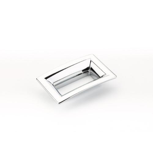 Finestrino, Pull, Flared Rectangle, Polished Chrome, 64 mm cc