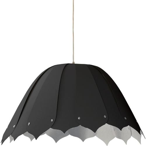 1lt Noa Pendant Jtone Blk/sv Medium Polished Chrom