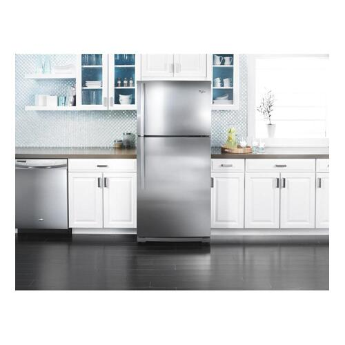Whirlpool - 19 cu. ft. Top-Freezer Refrigerator with CEE Tier 3 Rating