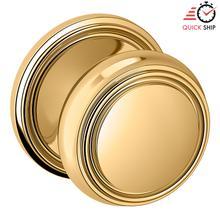 See Details - Lifetime Polished Brass 5068 Estate Knob with 5070 Rose