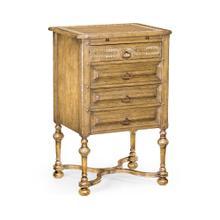 See Details - Tudorbethan Natural Oak Bedside Chest of Drawers