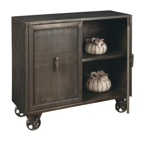 Hyde Two Door Accent Chest with Trolly-Style Wheels