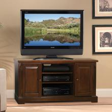 See Details - WAVS327 Espresso Finish Wood A/V Cabinet with interchangeable door panels for most TVs up to 56 inches from Bell'O International Corp.