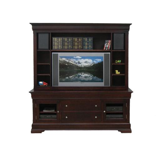 """Handstone - Phillipe 74"""" HDTV Cabinet w/Fireplace and Hutch"""
