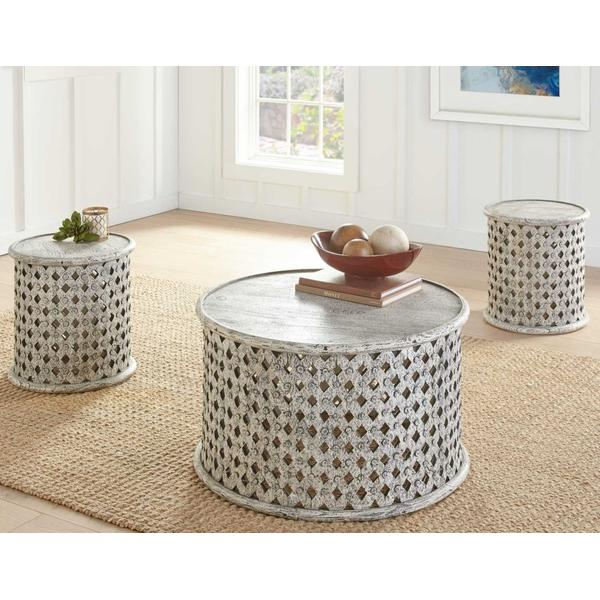See Details - Samir 3-Piece Occasional Set (Cocktail Table & 2 End Tables)