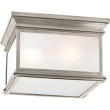 Visual Comfort CHC4129AN-FG E. F. Chapman Club 3 Light 13 inch Antique Nickel Flush Mount Ceiling Light in Frosted Glass