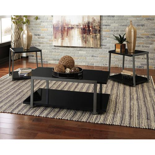 Signature Design by Ashley Rollynx 3 Piece Occasional Table Set [FSD-TS3-12BK-GG]