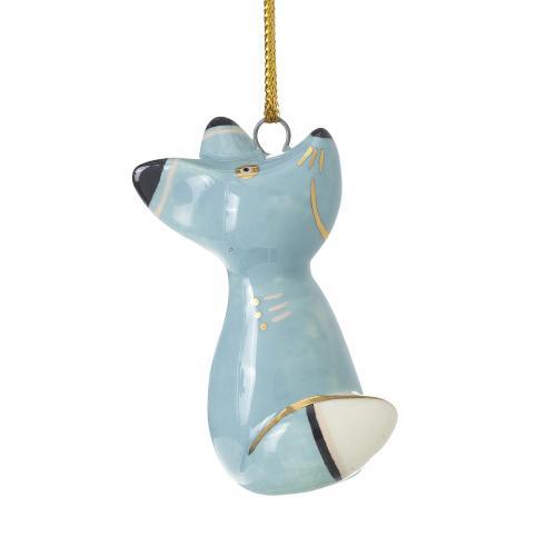 """1""""x 2.5"""" Blue E+E Critter Ornament (Fox Option)"""