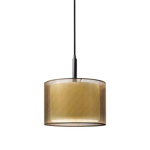 "Sonneman - A Way of Light - Puri Pendant [Size=10"", Color/Finish=Black Brass w/Bronze Shade]"