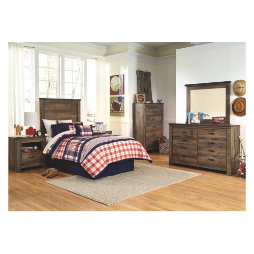 Trinell Five Drawer Chest Brown