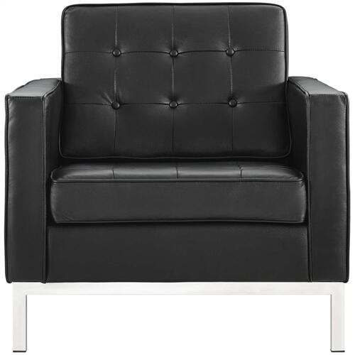 Loft Leather Armchair in Black