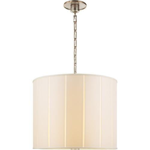 Visual Comfort BBL5032PWT-S Barbara Barry Perfect Pleat 2 Light 23 inch Pewter Finish Hanging Shade Ceiling Light
