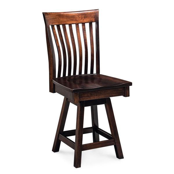 "See Details - Loft II Swivel Side Barstool, 30"" Seat Height / Fabric Cushion Seat"